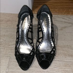 Strappy Black Party Heels! Like New!